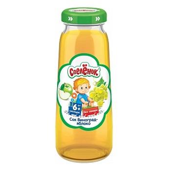 Купить Сок Спеленок Виноград-яблоко, осветленный, 200мл, Россия