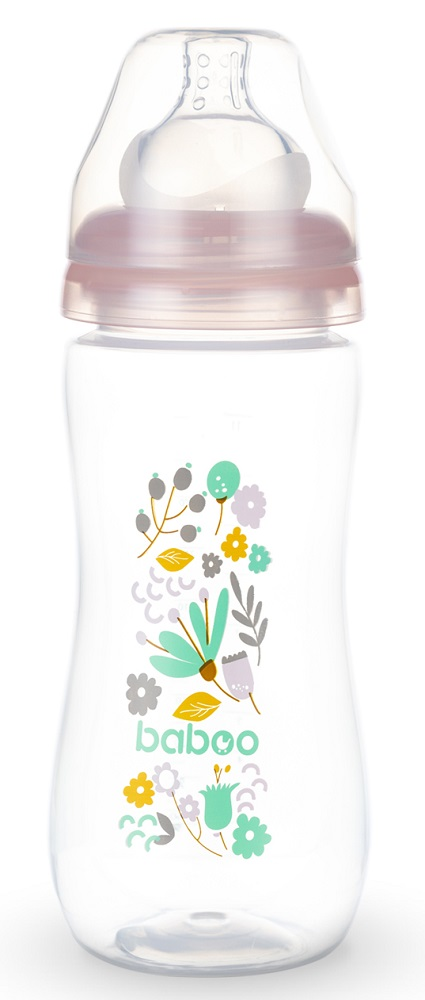 Купить Бутылочка Baboo Flora с силиконовой соской, 330мл, Великобритания