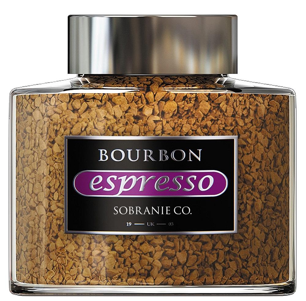 Купить Кофе Bourbon Espresso растворимый сублимированный с добавлением жареного молотого кофе, 100гр, Россия
