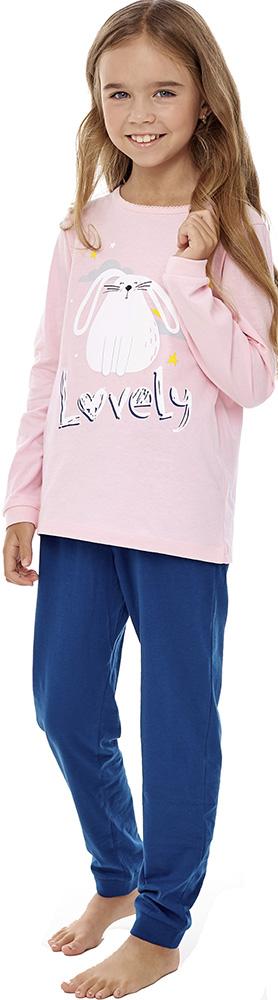 Купить Комплект пижамный UMKA Lovely 204-026-02: футболка и брюки, для девочки, Витоша, Россия, Мульти, 110