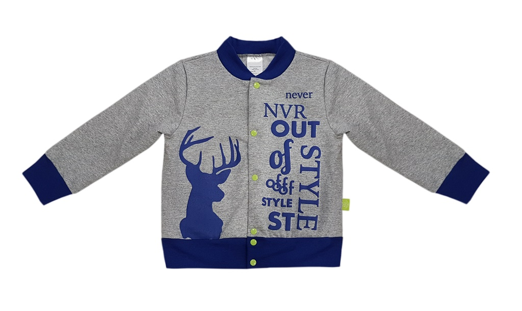 Купить Толстовка NewBorn Deer, Bembi, Украина, Серый, 116