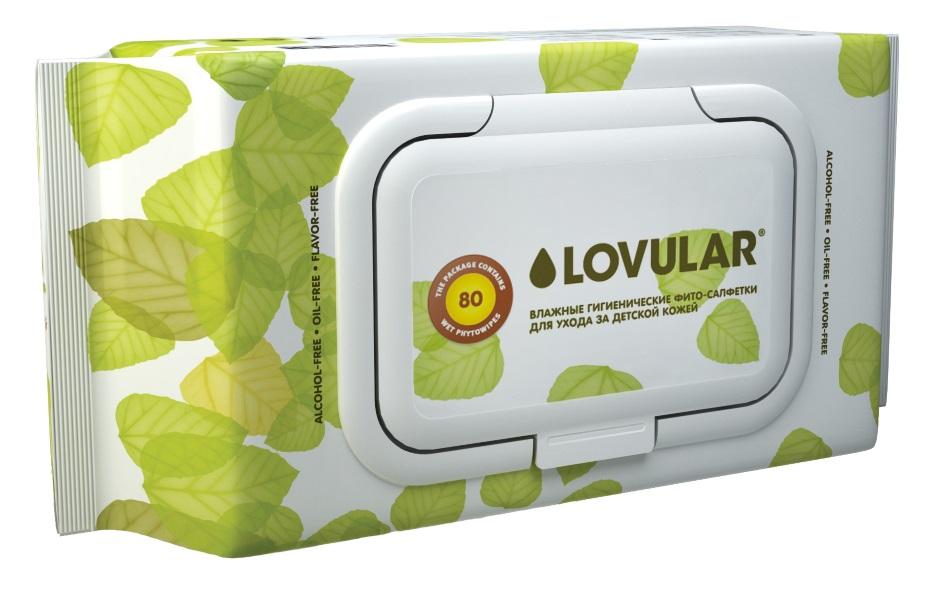 Влажные фито-салфетки Lovular, 80шт. фото