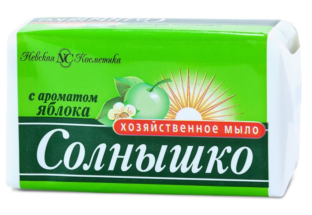 Купить Мыло хозяйственное Невская Косметика Солнышко с ароматом яблока, 140гр, Россия