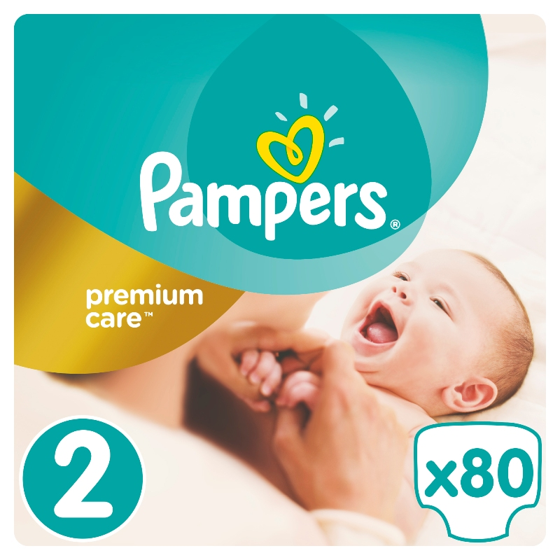 Подгузники Pampers Premium Care Mini 2 (3-6кг), 80шт.