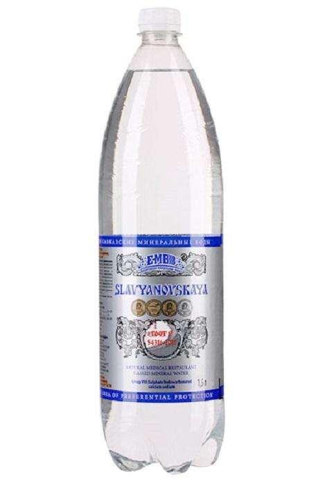 Купить Вода минеральная лечебно-столовая Славяновская , 1, 5л, Россия