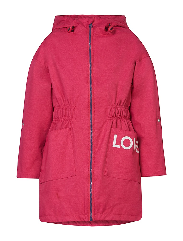 """Куртка OLDOS """"Шелли"""" для девочки, малиновая фото"""