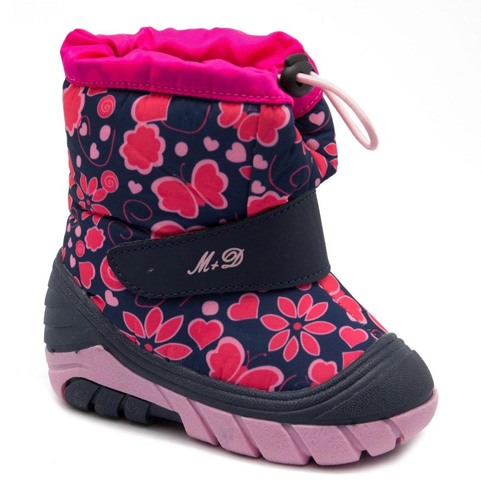 Сноубутсы М+Д 8838-7, розовые фото