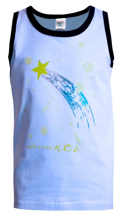 Купить Майка НОАТЕКС+ 11334 для мальчика, голубая, Котофей, Россия, Голубой, 116