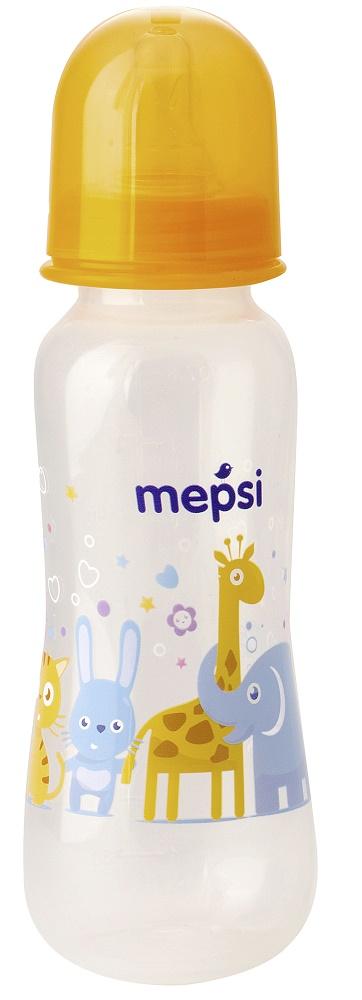 Купить Бутылочка для кормления Mepsi с силиконовой соской, 250мл, Россия