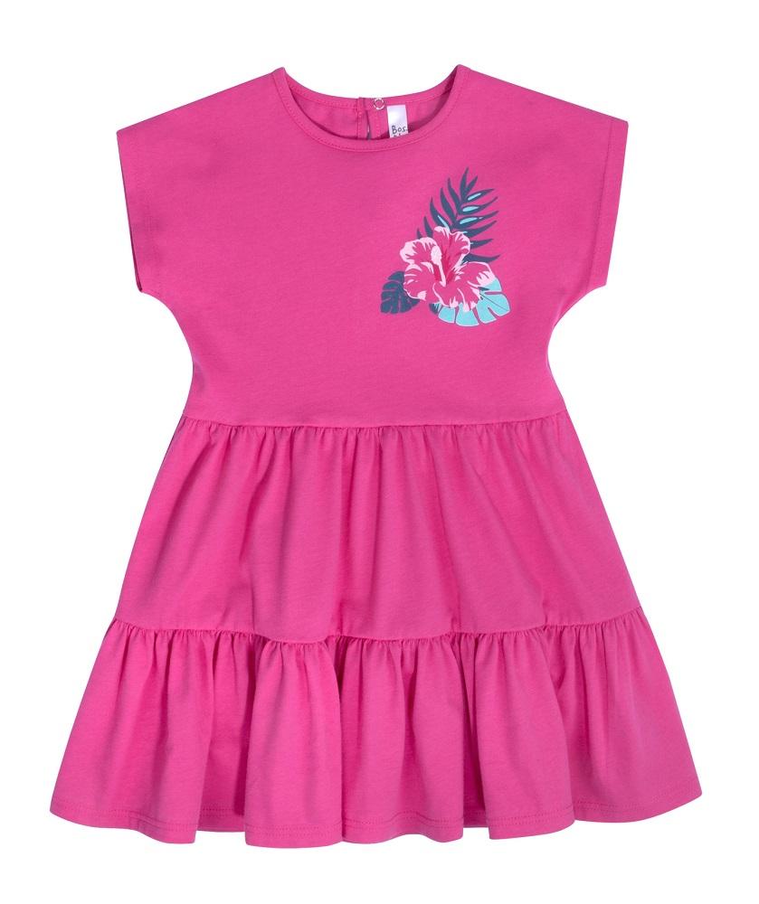Купить Платье Bossa Nova Лето с коротким рукавом, фуксия, Hasbro, США, Розовый, 104