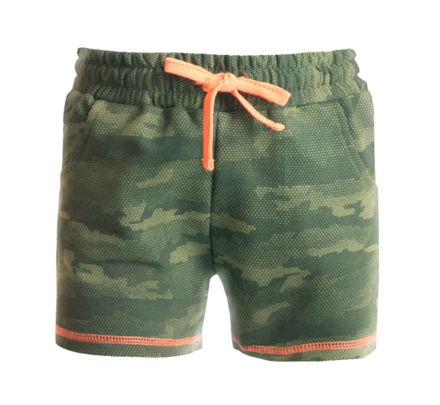 Купить Шорты НОАТЕКС+ для девочки, со шнурком, милитари, Polini Kids, Россия, Милитари, 128
