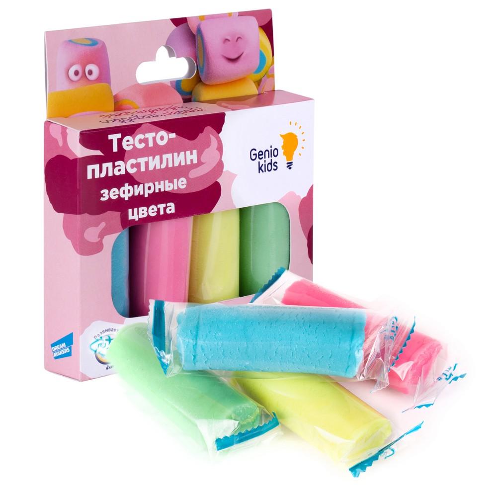 Купить Набор для детской лепки Genio Kids Тесто-пластилин. Зефирные цвета , 4 цвета, Беларусь
