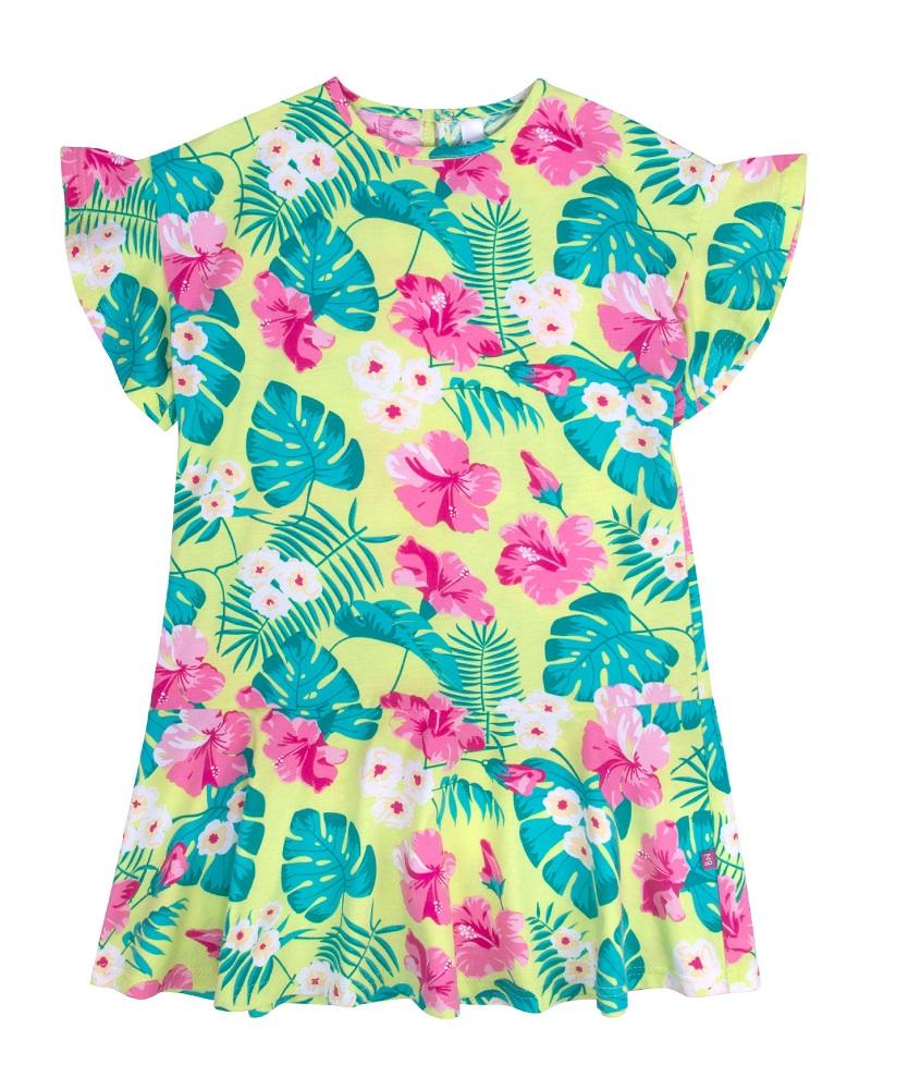 Купить Платье Bossa Nova Лето с воланами, цветочное, Hasbro, США, Мульти, 104
