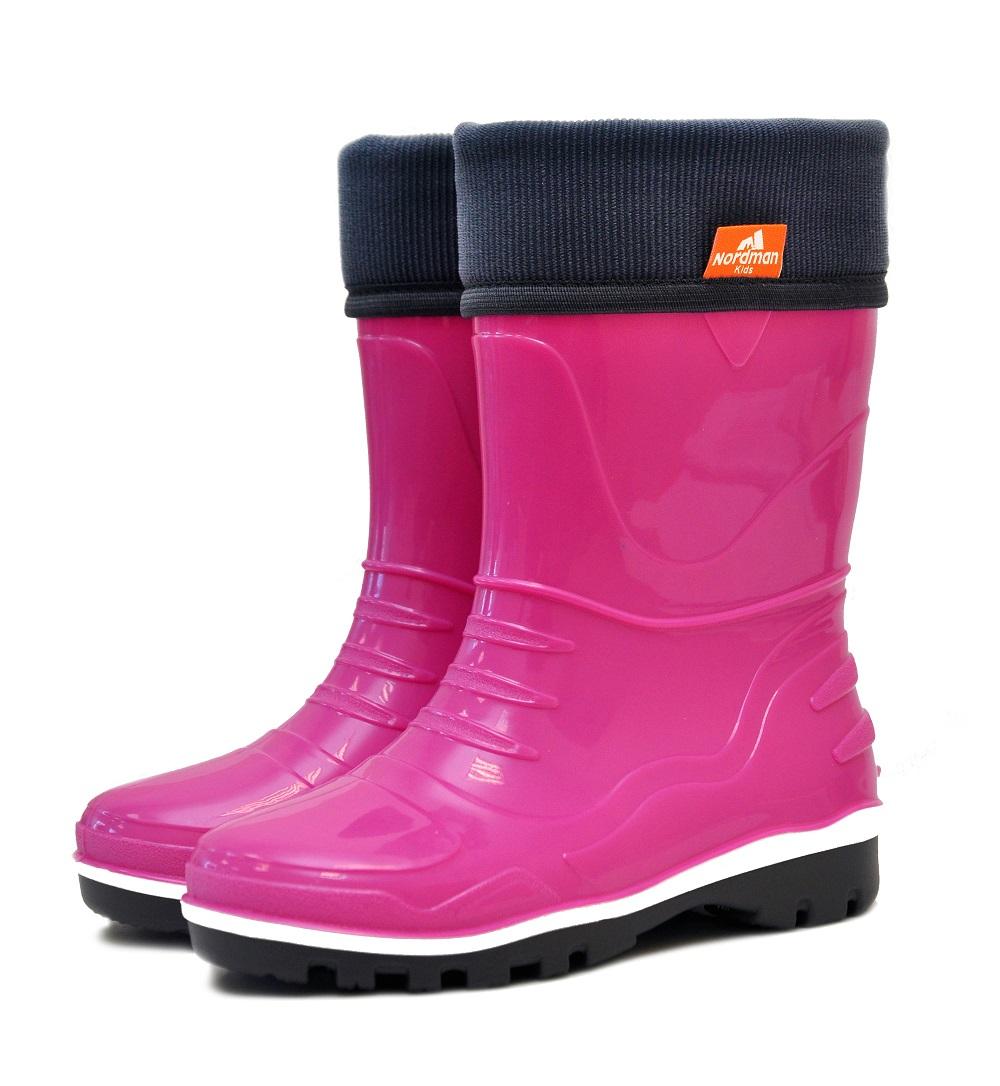 Резиновые сапоги Nordman Step ПС 8-3 ВУФ, розовые фото