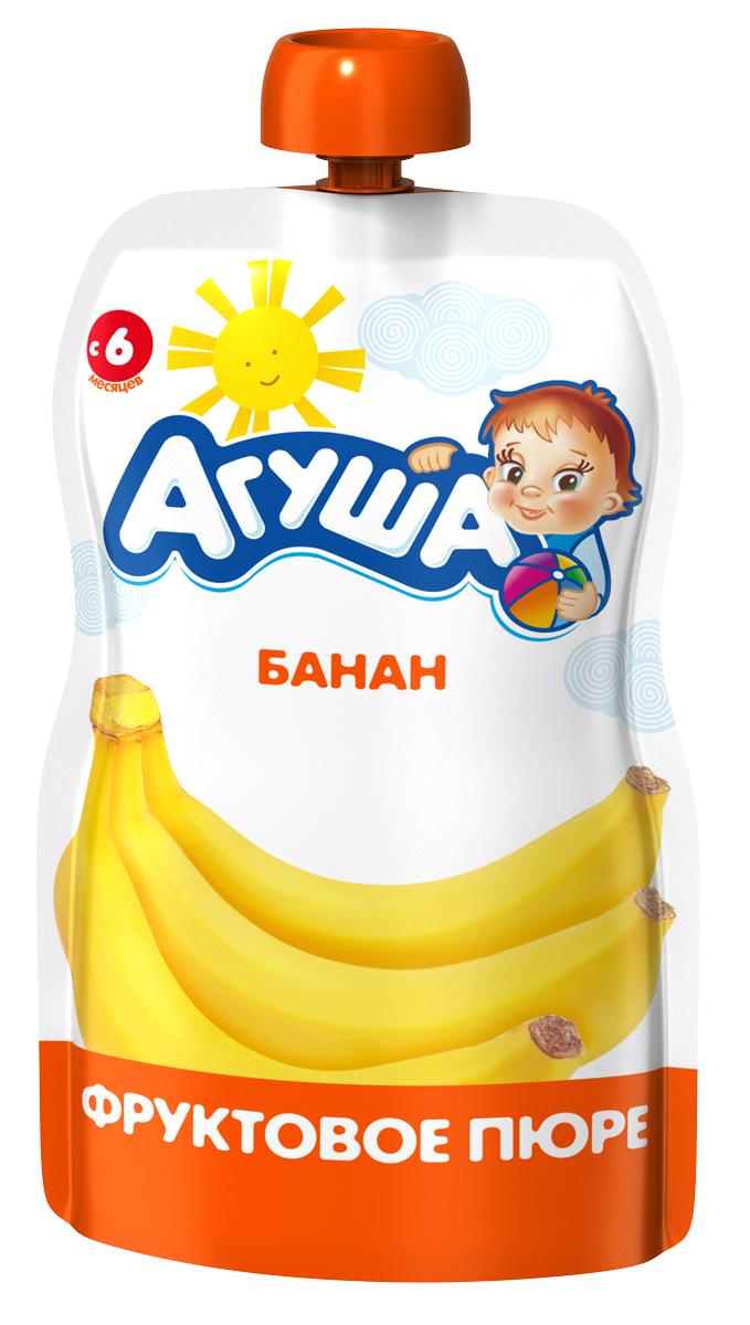 Купить Пюре фруктовое Агуша Банан, пауч, 90гр, Россия