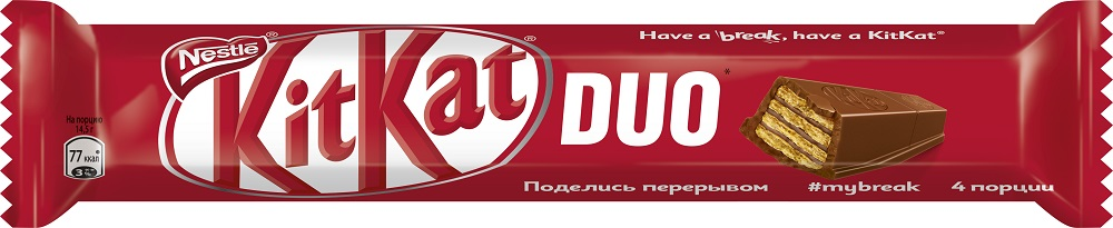 Шоколад KitKat Duo с хрустящей вафлей, 58гр