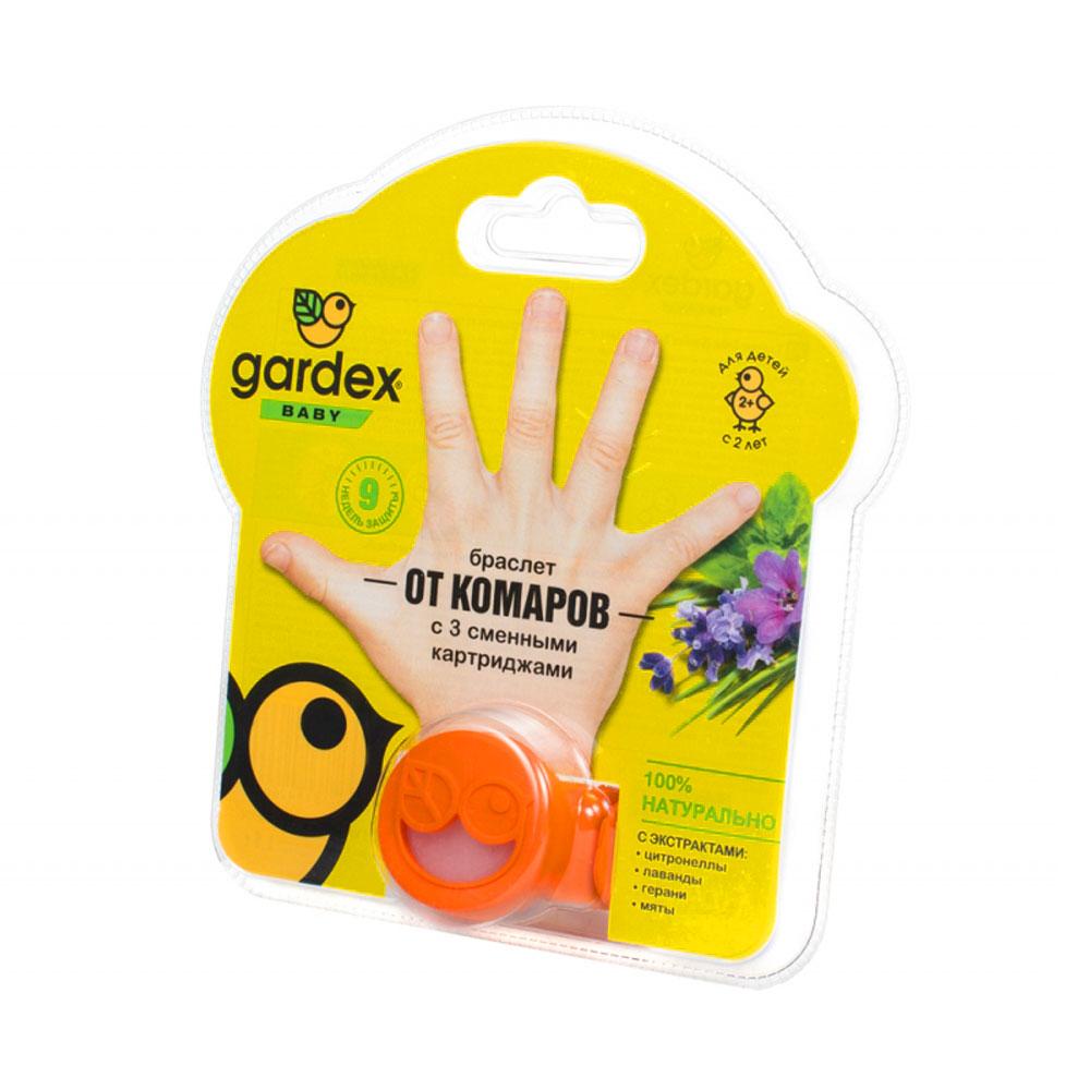 Браслет от комаров Gardex Baby, со сменными картриджами, 3шт. фото