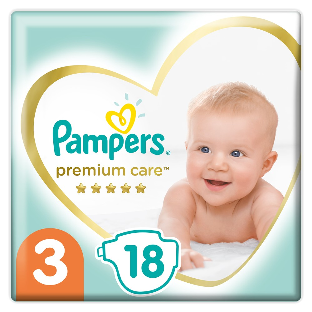 Подгузники Pampers Premium Care Midi (6-10кг), 18шт.