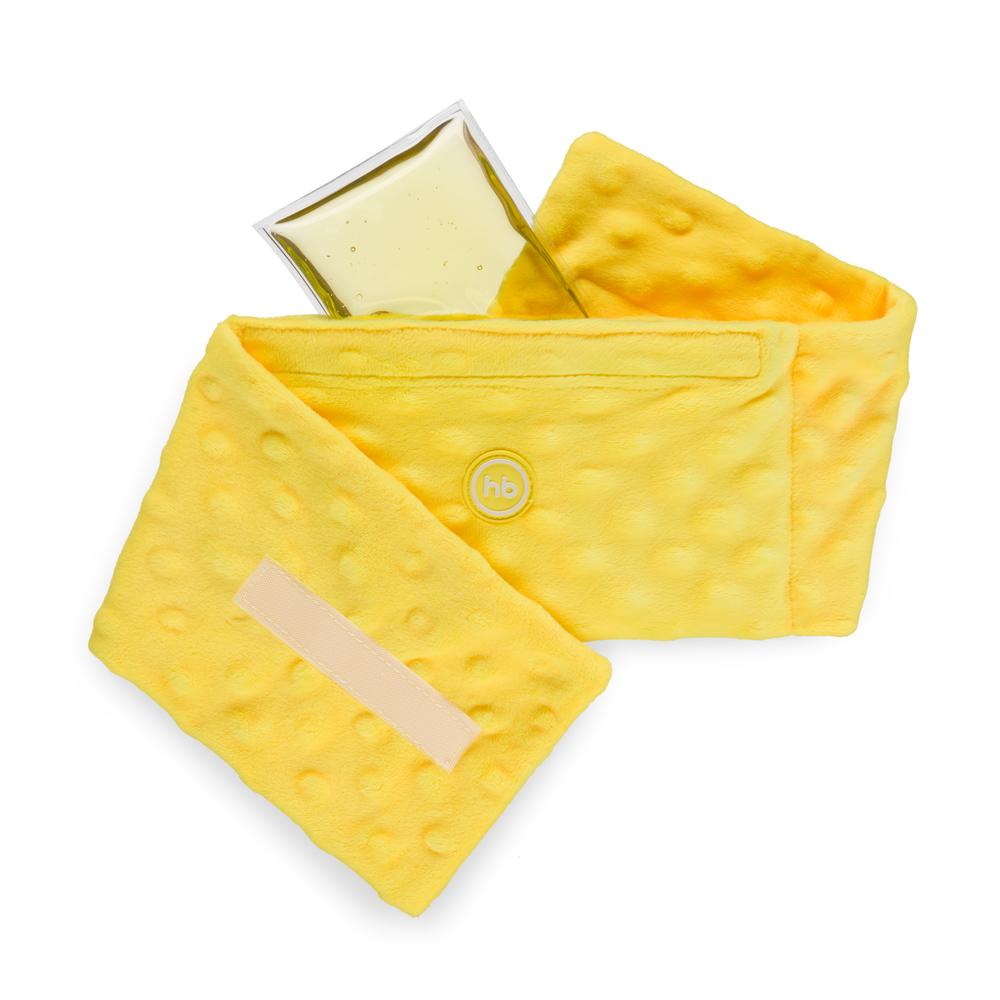 Грелка Happy Baby «Fusion Care» гелевая антиколиковая с чехлом, желтая фото