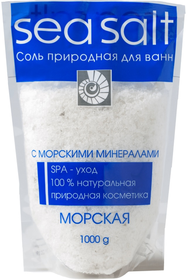 Купить Соль для ванн Северная жемчужина Морская с морскими минералами, 1кг, Россия