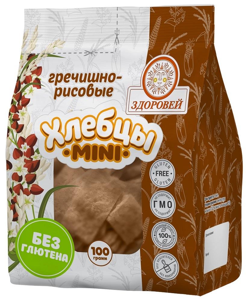 Купить Хлебцы Здоровей Mini гречишно-рисовые, 100гр, Россия
