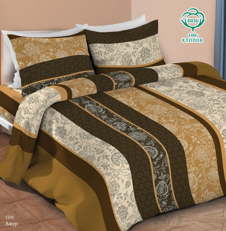 Купить Комплект постельного белья Ажур , с наволочкой 70х70см, 1, 5-спальный, ОТК, Россия