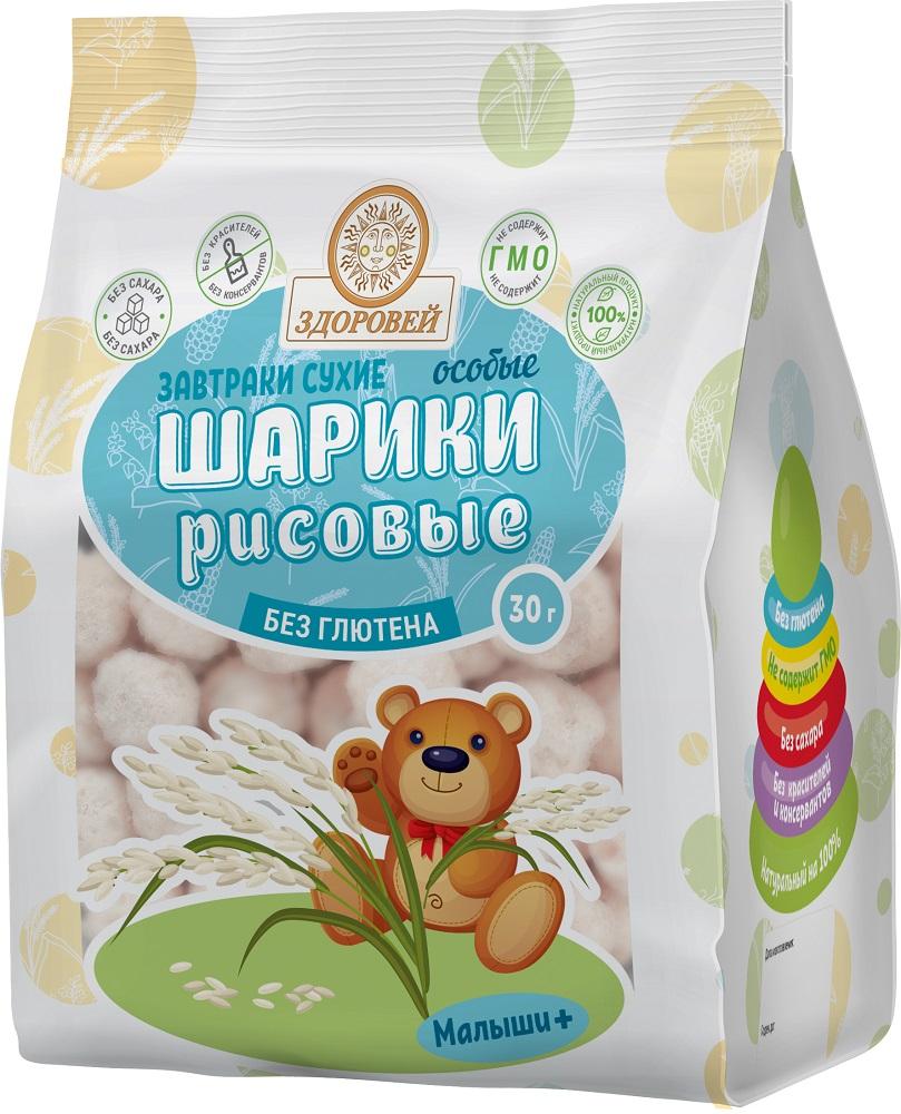 Купить Шарики особые Здоровей рисовые, 30гр, Россия