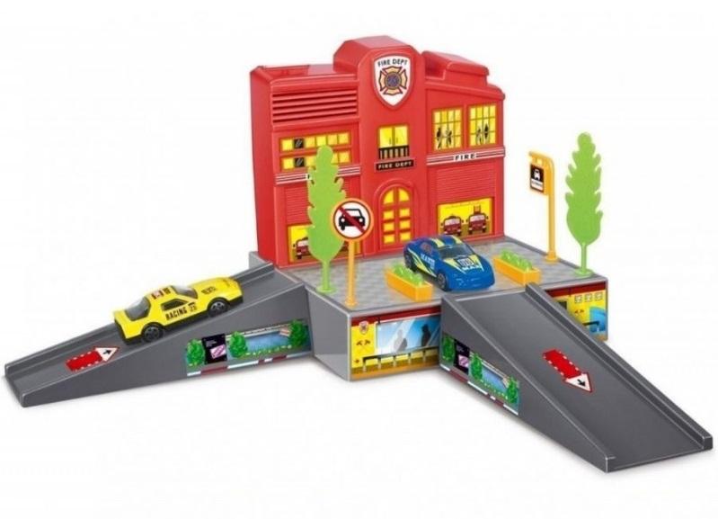 Купить Игровой наборр Dave Toy Пожарная станция с 1 машинкой, Китай