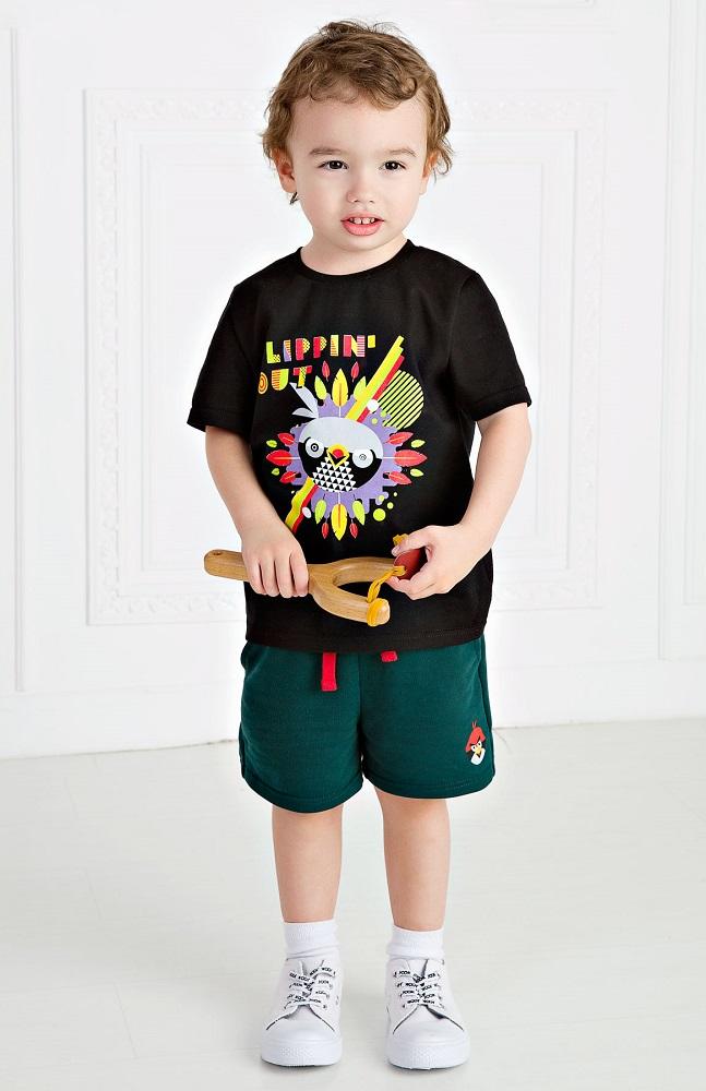 Купить Футболка Bossa Nova Angry Birds для мальчика, черная, Наша Мама, Россия, Черный, 116