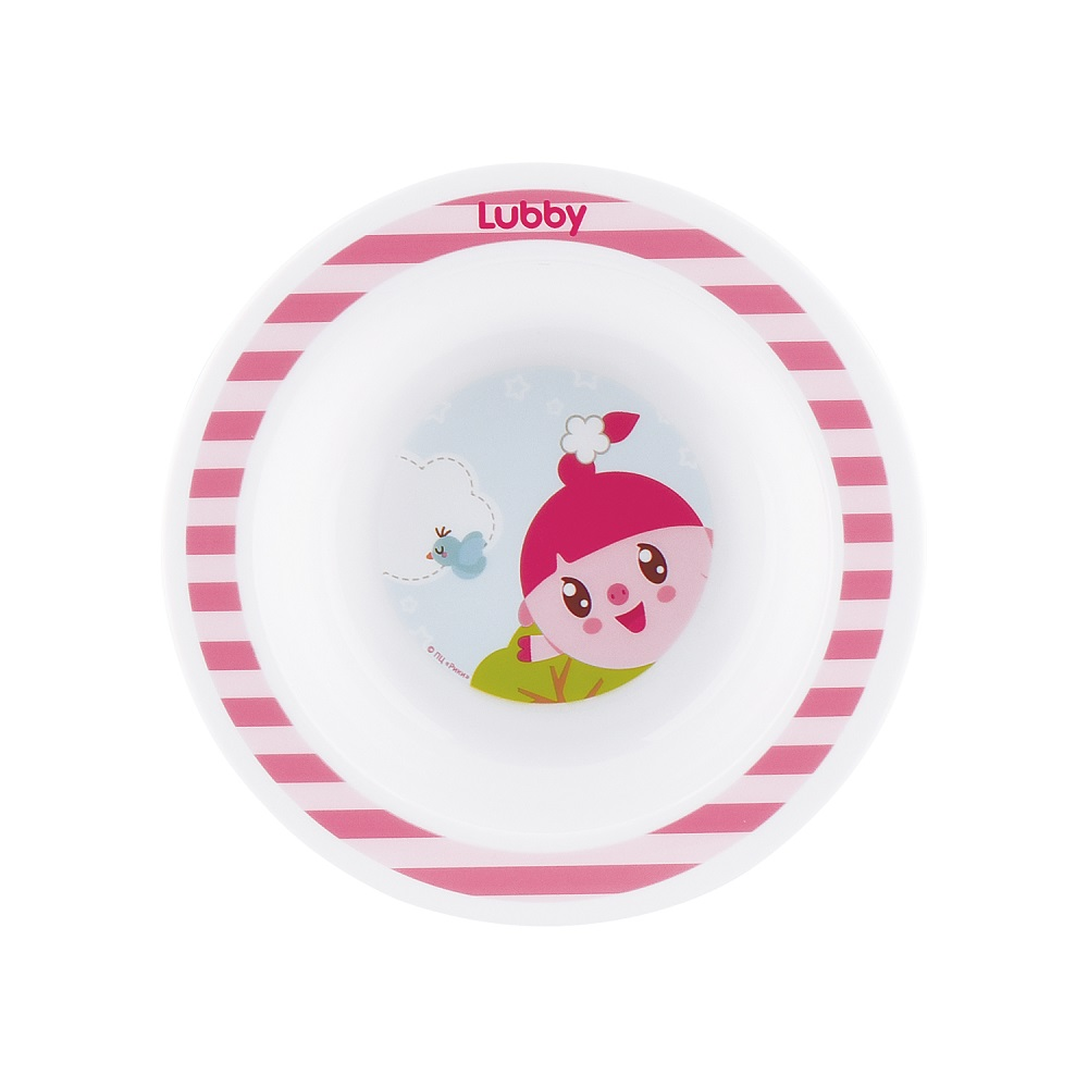 "Тарелка Lubby ""Малышарики"", розовая, 200мл фото"