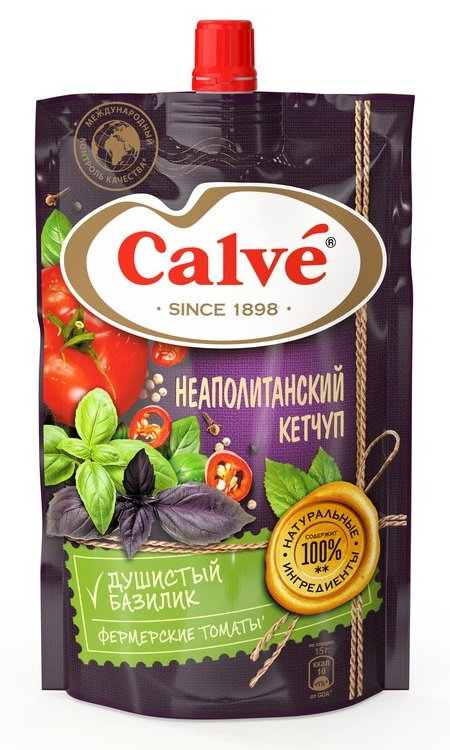 """Кетчуп томатный Calve """"Неаполитанский"""", 350гр фото"""