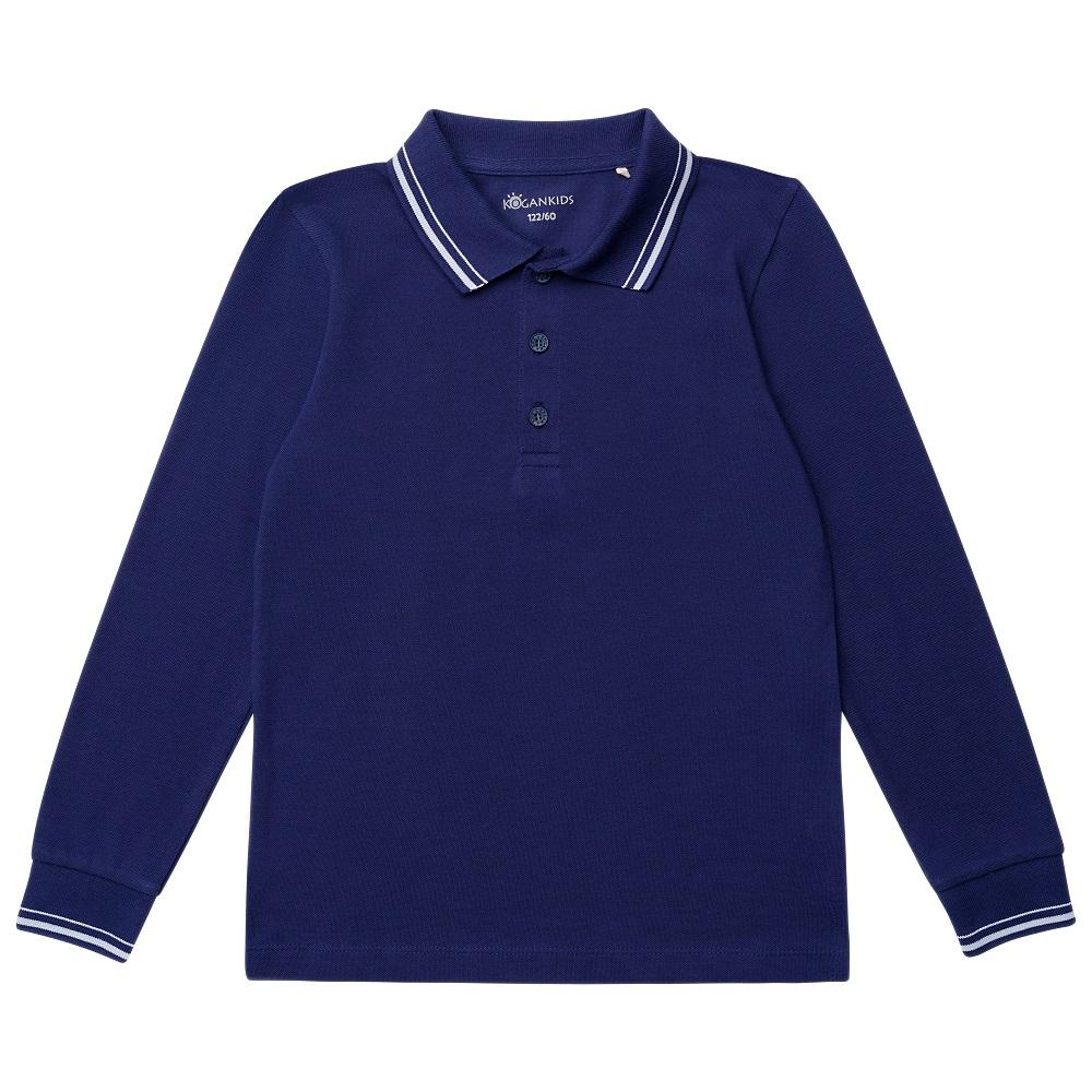 Купить Рубашка-поло Kogankids для мальчика, темно-синяя, Durex, Великобритания, Синий, 122
