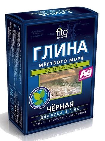 Глина Мертвого моря Фитокосметик, 100гр, черная, Россия  - купить со скидкой