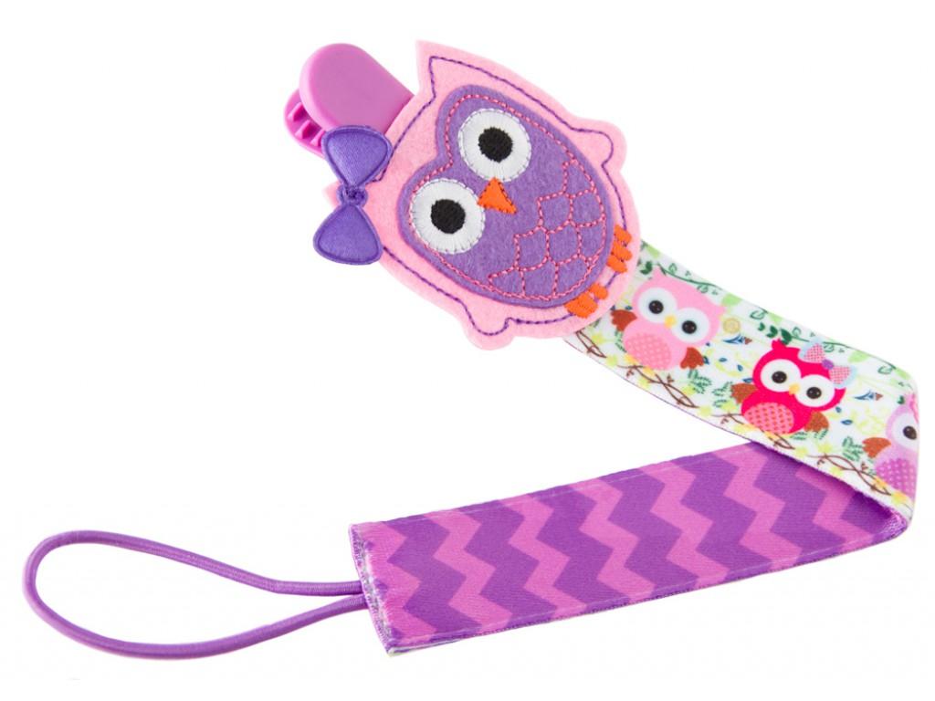 Купить Держатель для пустышек Roxy Kids Sova, с игрушкой, Россия
