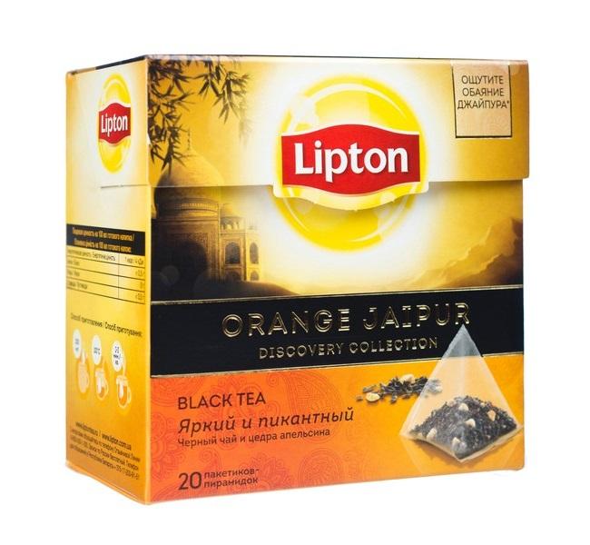 Чай черный Lipton Orange Jaipur, 20 пакетиков фото