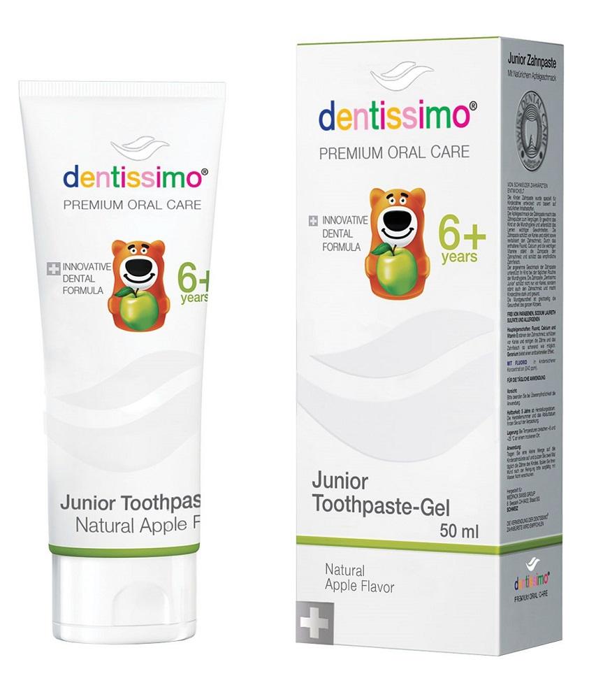 Зубная паста Dentissimo Junior Apple 6+, 50мл фото
