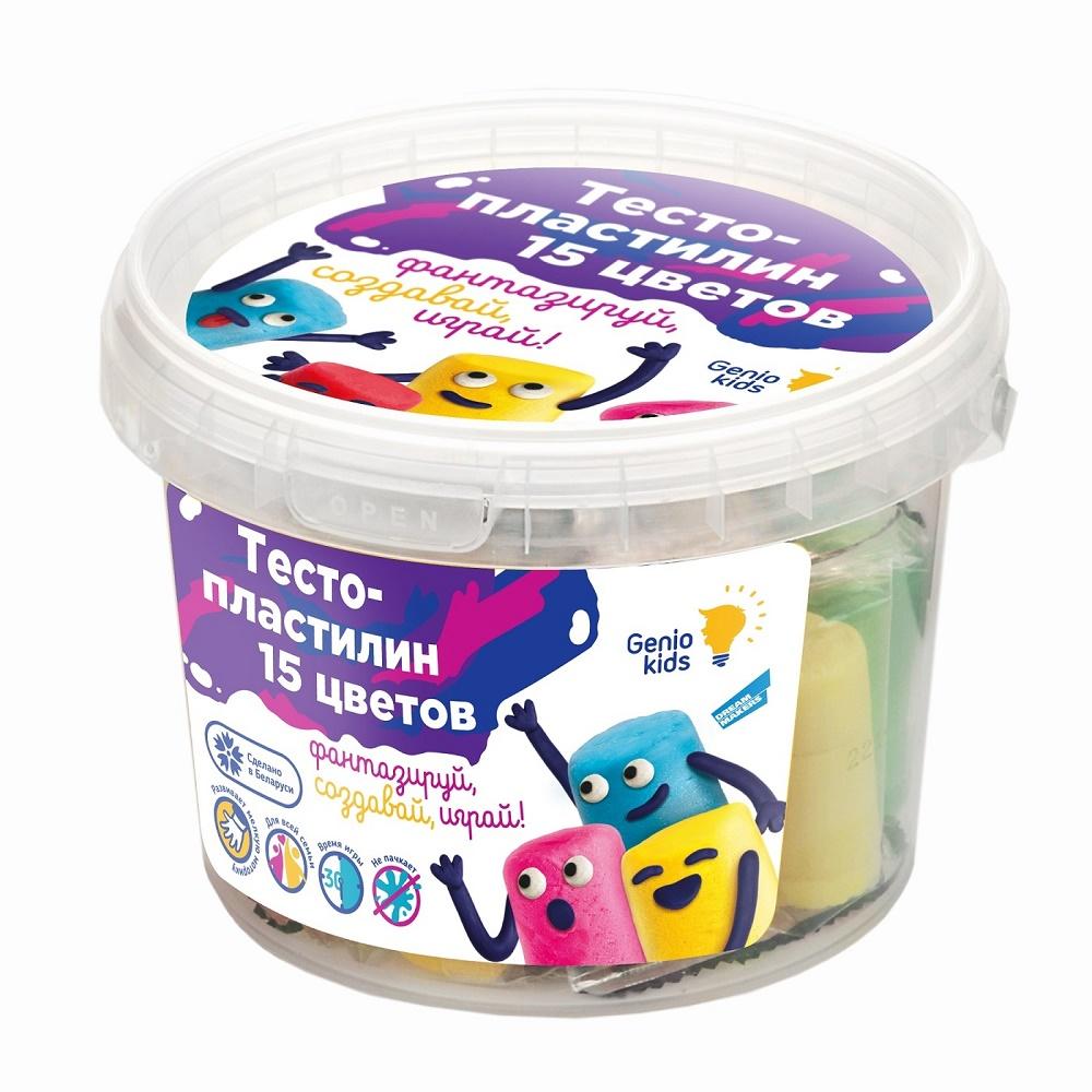 Купить Набор для лепки Genio Kids Тесто-пластилин , 15 цветов, Украина