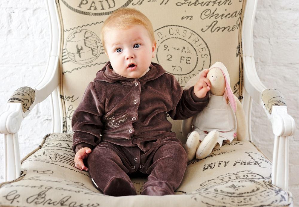 Купить Комбинезон Lucky Child Ангелочки с капюшоном, кофейный, Наша Мама, Россия, Кофейный, 56