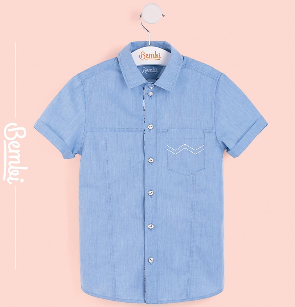 Сорочка Bembi, синяя, Durex, Великобритания, Синий, 134  - купить со скидкой