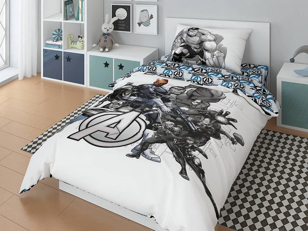 Купить Комплект постельного белья Нордтекс Marvel Мстители, 3 предмета, с наволочкой 70х70см, Россия