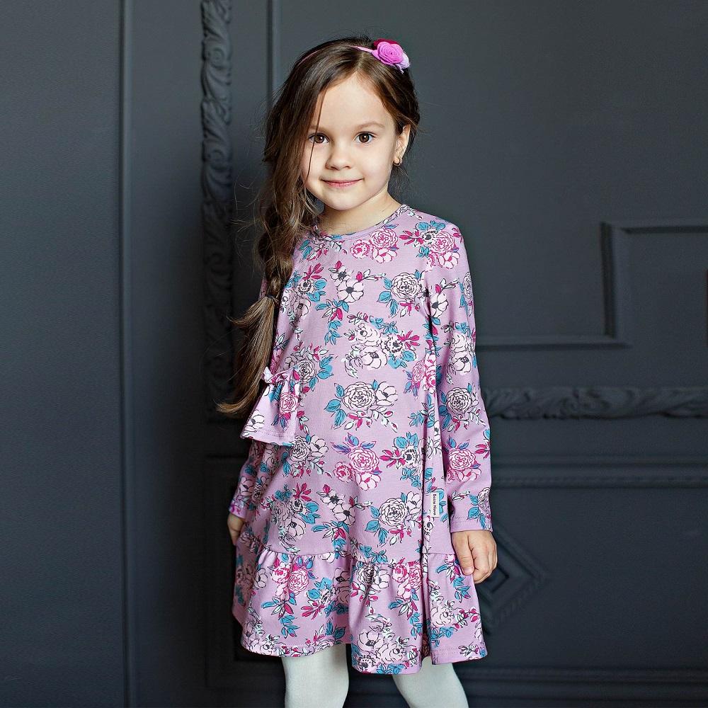 Купить Платье Bossa Nova Майя с оборкой, сиреневое, Sohni-Wicke, Германия, Сиреневый, 128