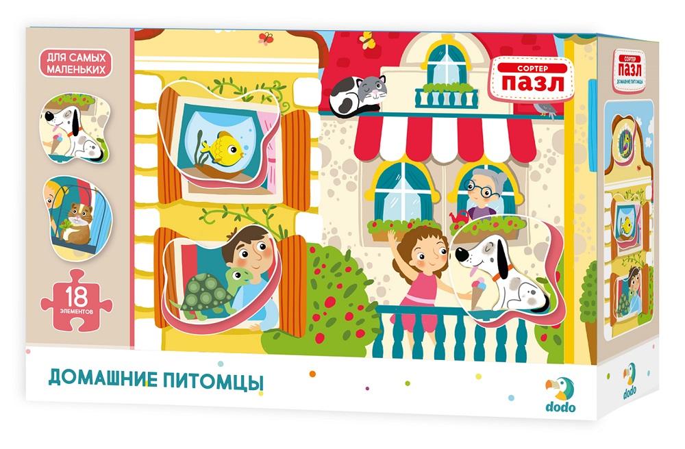 """Пазл-сортер Dodo """"Домашние питомцы"""", 18 деталей"""