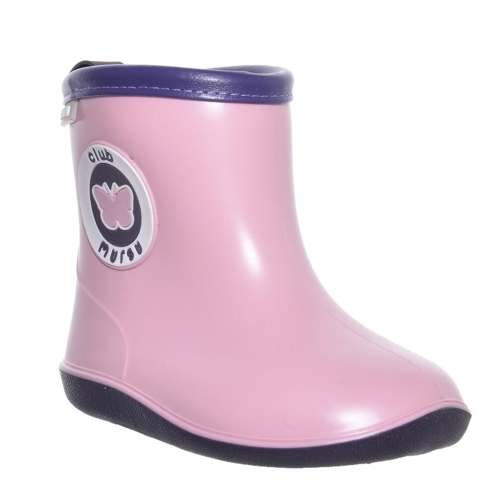 Сапоги резиновые MURSU 211303, розовые фото