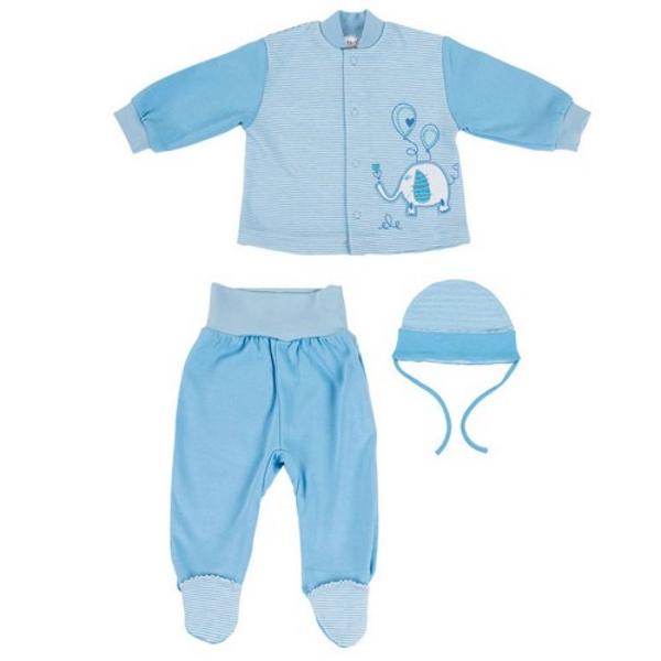 Купить Комплект Bembi Слоник : кофточка, штаны и шапочка, голубой, Наша Мама, Россия, Голубой, 62