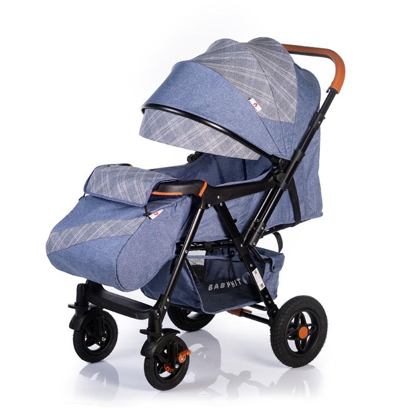 Купить Прогулочная коляска Babyhit Sense Plus с перекидной ручкой (цвета в ассорт.), BabyZz, Китай, Голубой