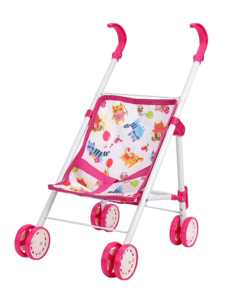 """Прогулочная коляска Mary Poppins """"Фантазия"""" для куклы 32х23см, малиновая"""