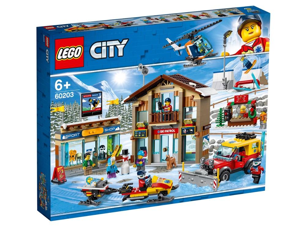 """Конструктор LEGO City Town 60203 """"Горнолыжный курорт"""", 806 деталей"""
