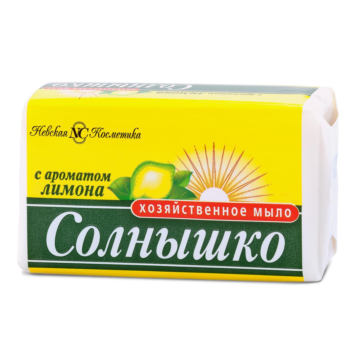 Купить Мыло хозяйственное Невская Косметика Солнышко с ароматом лимона, 140гр, Россия