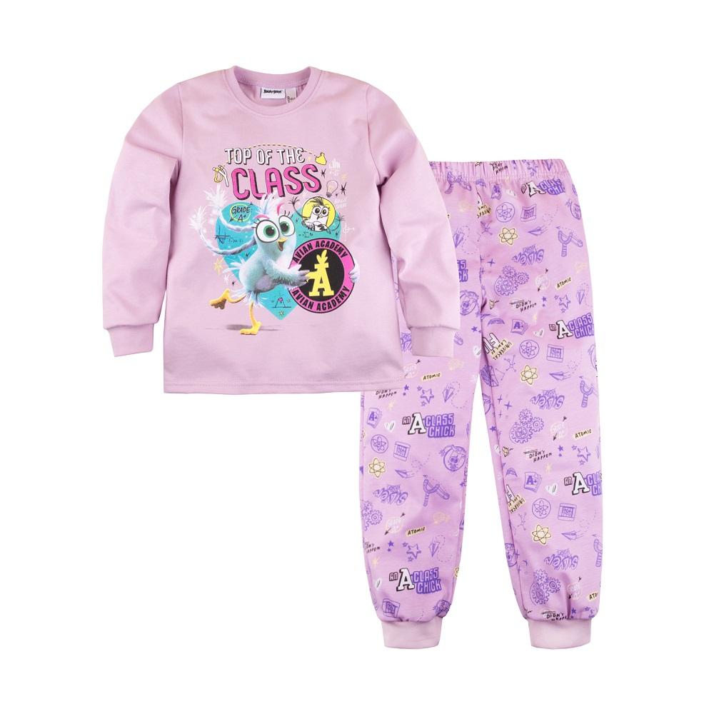 Купить Пижама Bossa Nova Angry Birds для девочки: джемпер и брюки, Журавлик, Россия, Розовый, 122