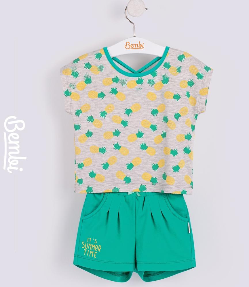 Купить Комплект для девочки Bembi: футболочка и шортики, Наша Мама, Россия, Мульти, 110